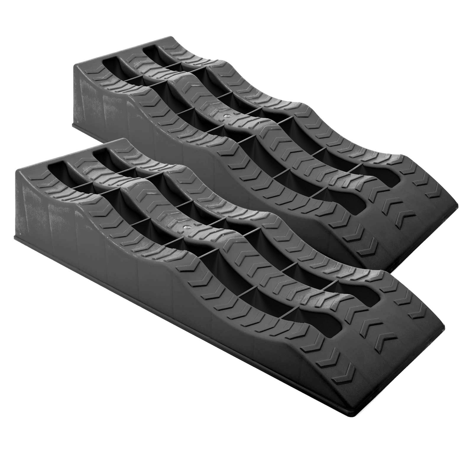2 x Auffahrkeile Jumbo XL Stufenkeil | pro Achse 5 t | 3 Ebenen | inkl. Tasche