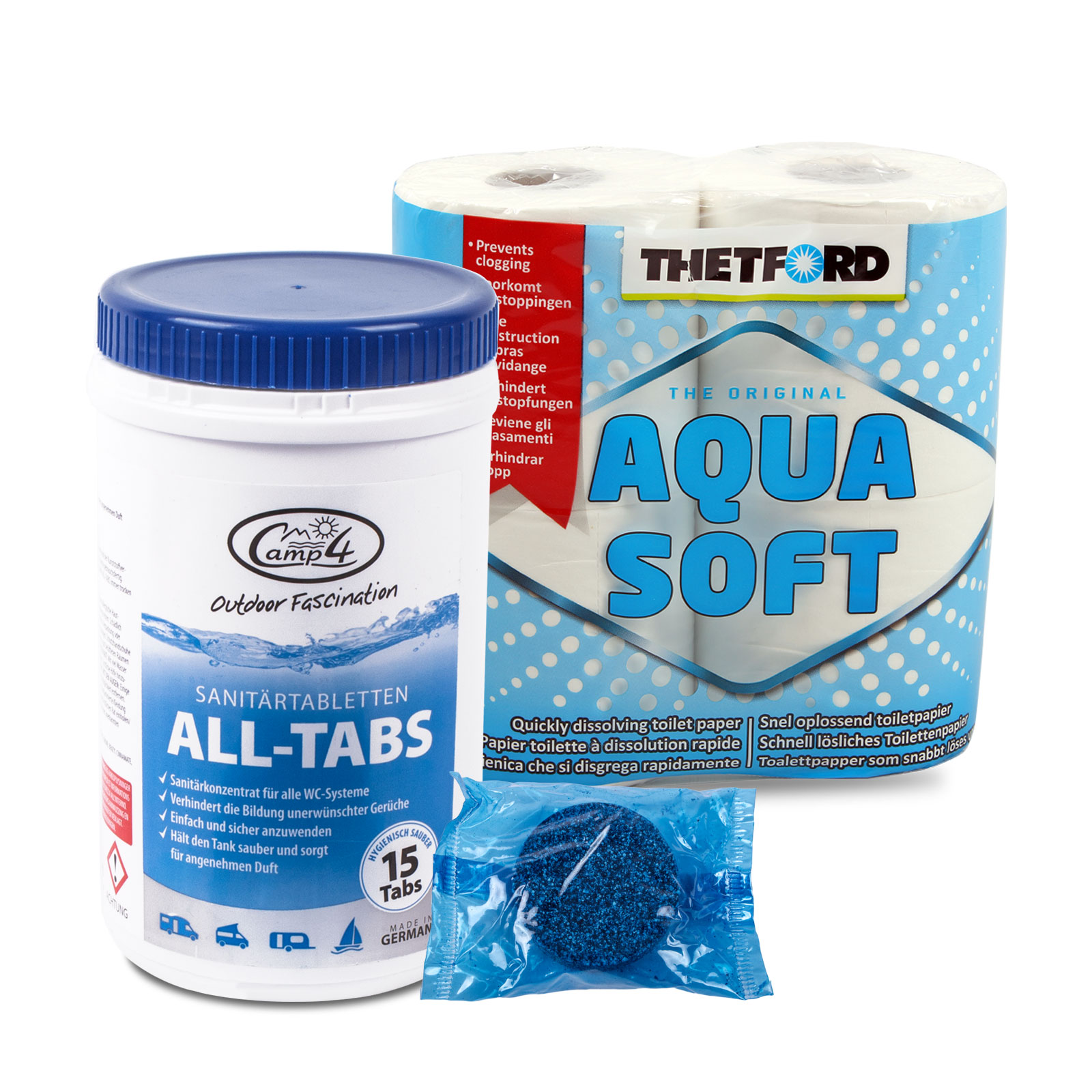 Camp4 All-Tabs Toilettentabletten 15 st., für Abwassertanks