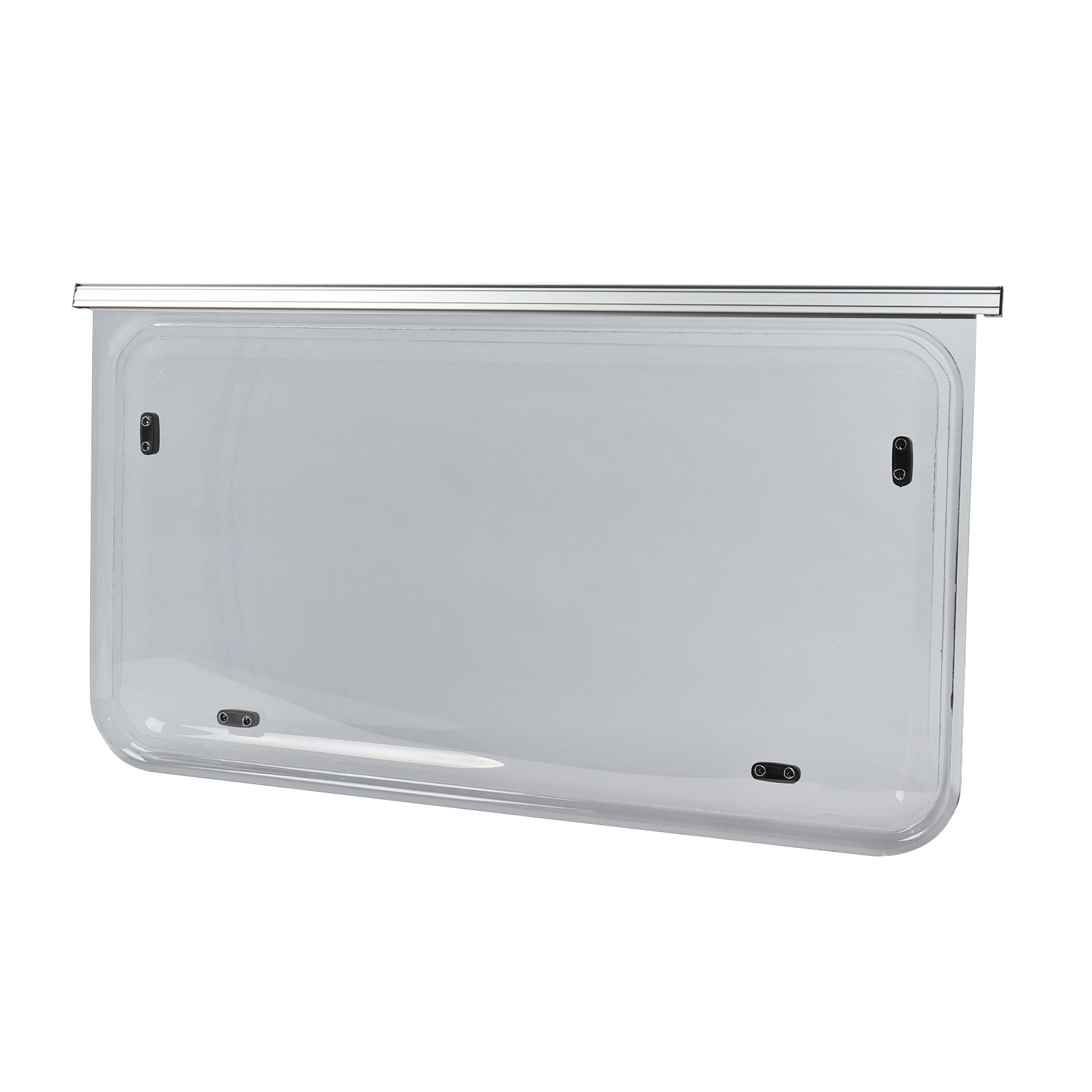 Wohnwagen Seitenfenster 70x50cm | Kederbefestigung | inkl Aussteller | Anthrazit