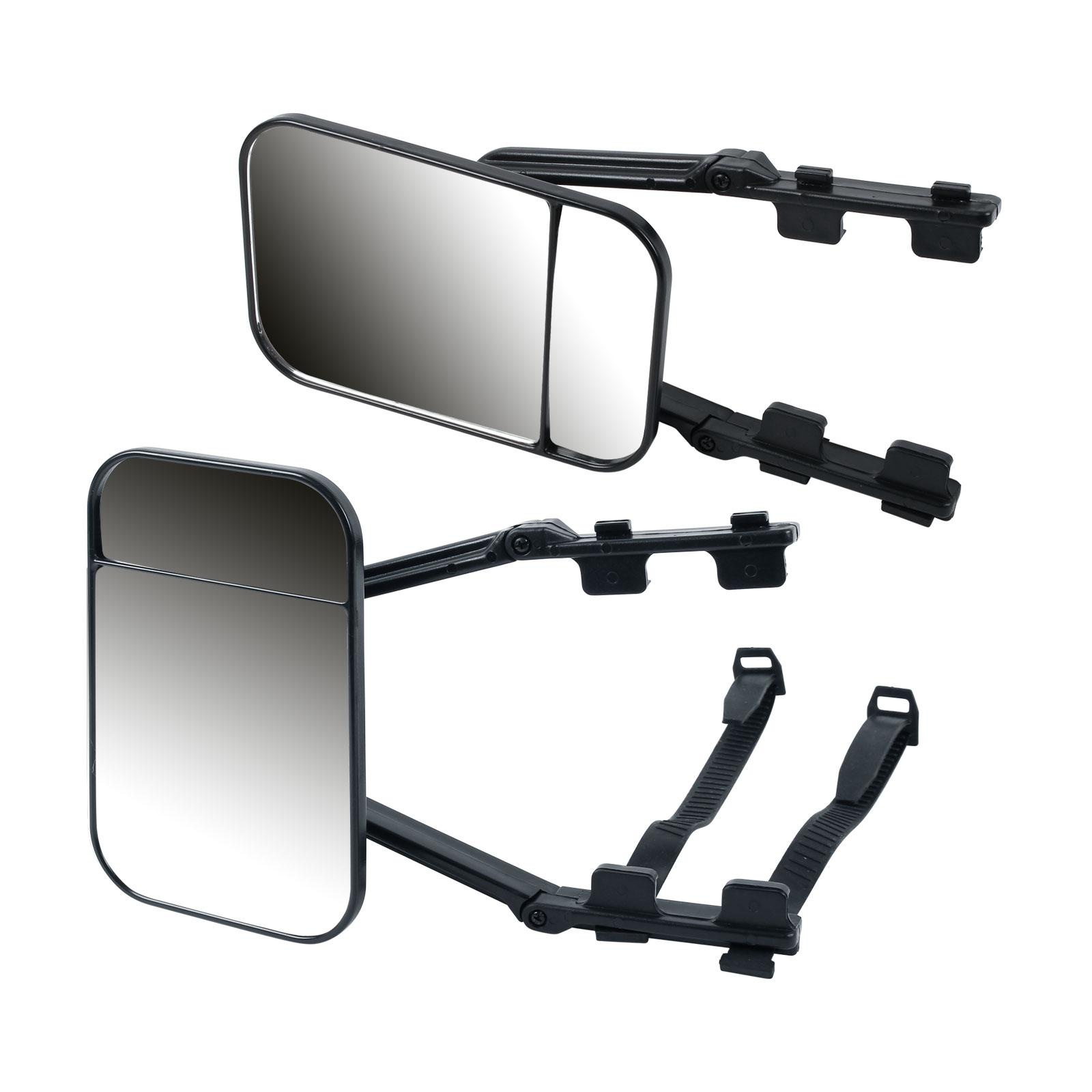 2x Wohnwagenspiegel Erweiterung E geprüft, konvex, universal, schwarz