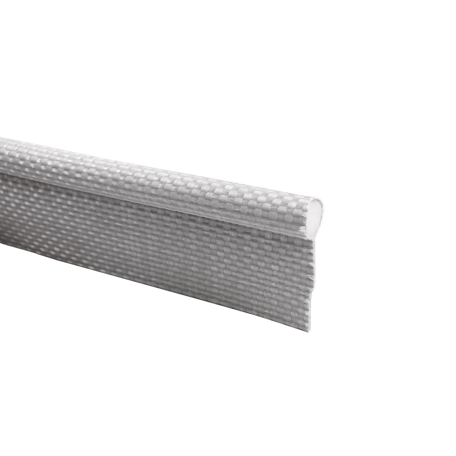 1 Meter Keder Einzugkeder 7,5 mm weiß Pvc Gewebe 20mm Lasche, Zeltkeder Vorzelt