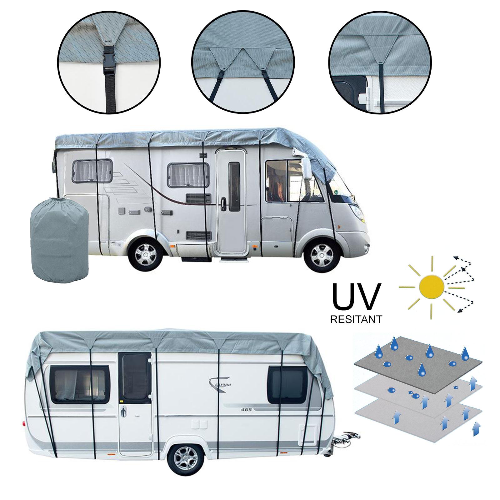Wohnwagen & Wohnmobil Schutzdach 3 Schichten 160g Winter geeignet