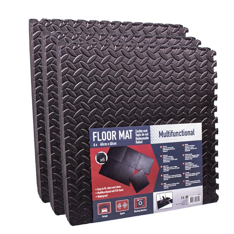 Steckmatten 18er Set 40 x 40 cm schwarz, EVA Schaumstoff 2,88m²