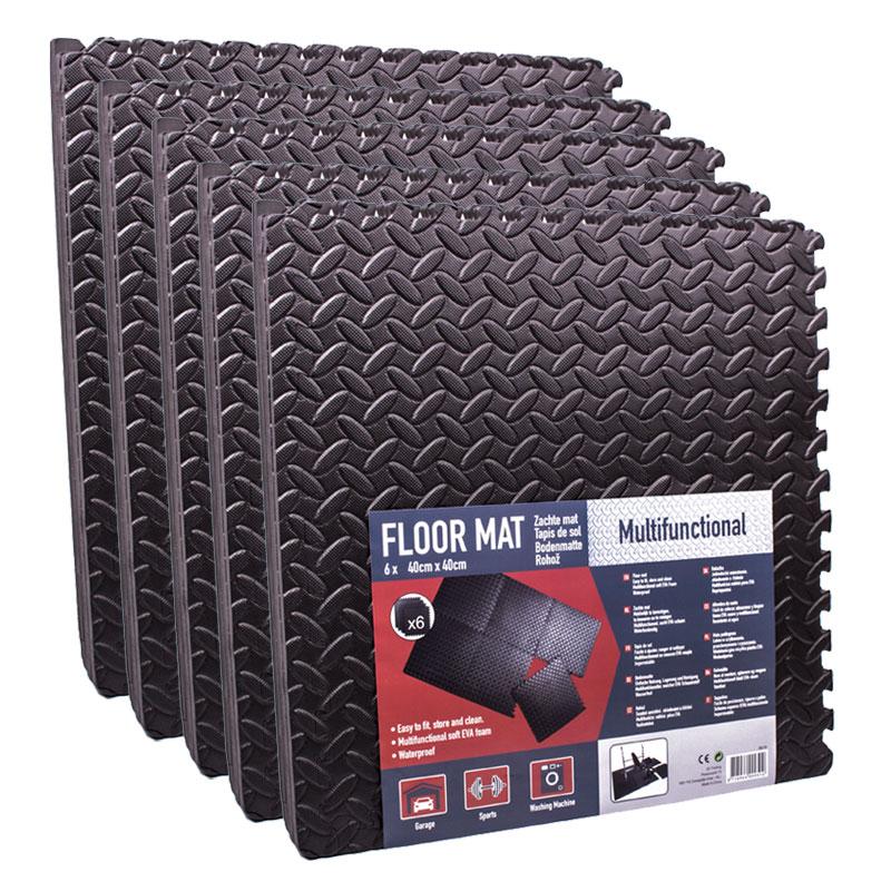 Steckmatten 30er Set 40 x 40 cm schwarz, EVA Schaumstoff 4,8m²