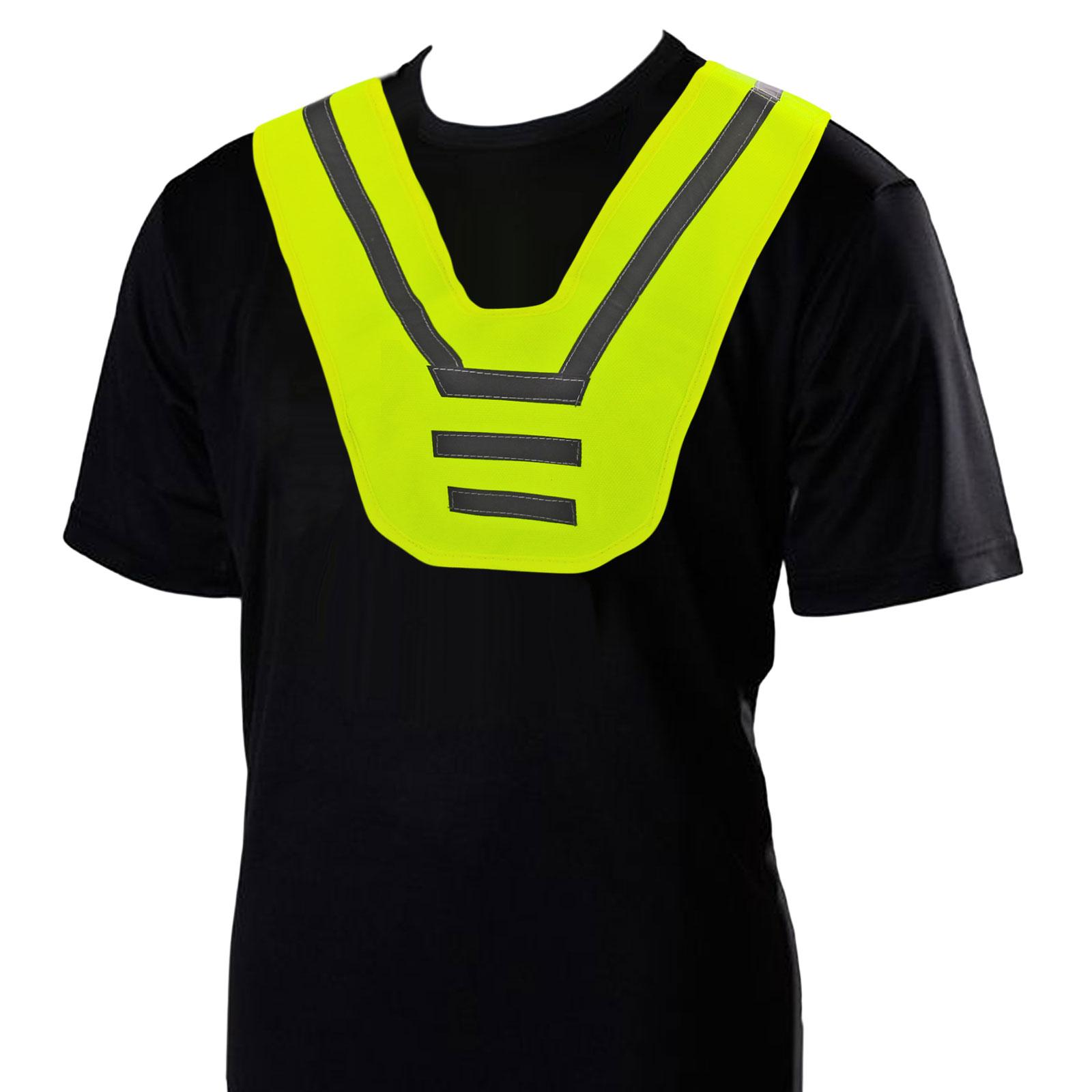 Reflektions Kragen Neon Gelb für Kinder Schultergurt Warnweste Sicherheitsweste