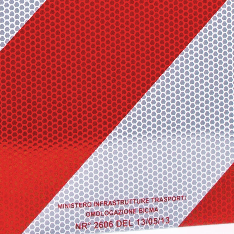 Aluminium Warntafel 50x50 Italien mit Zulassung reflektierend für Wohnmobil