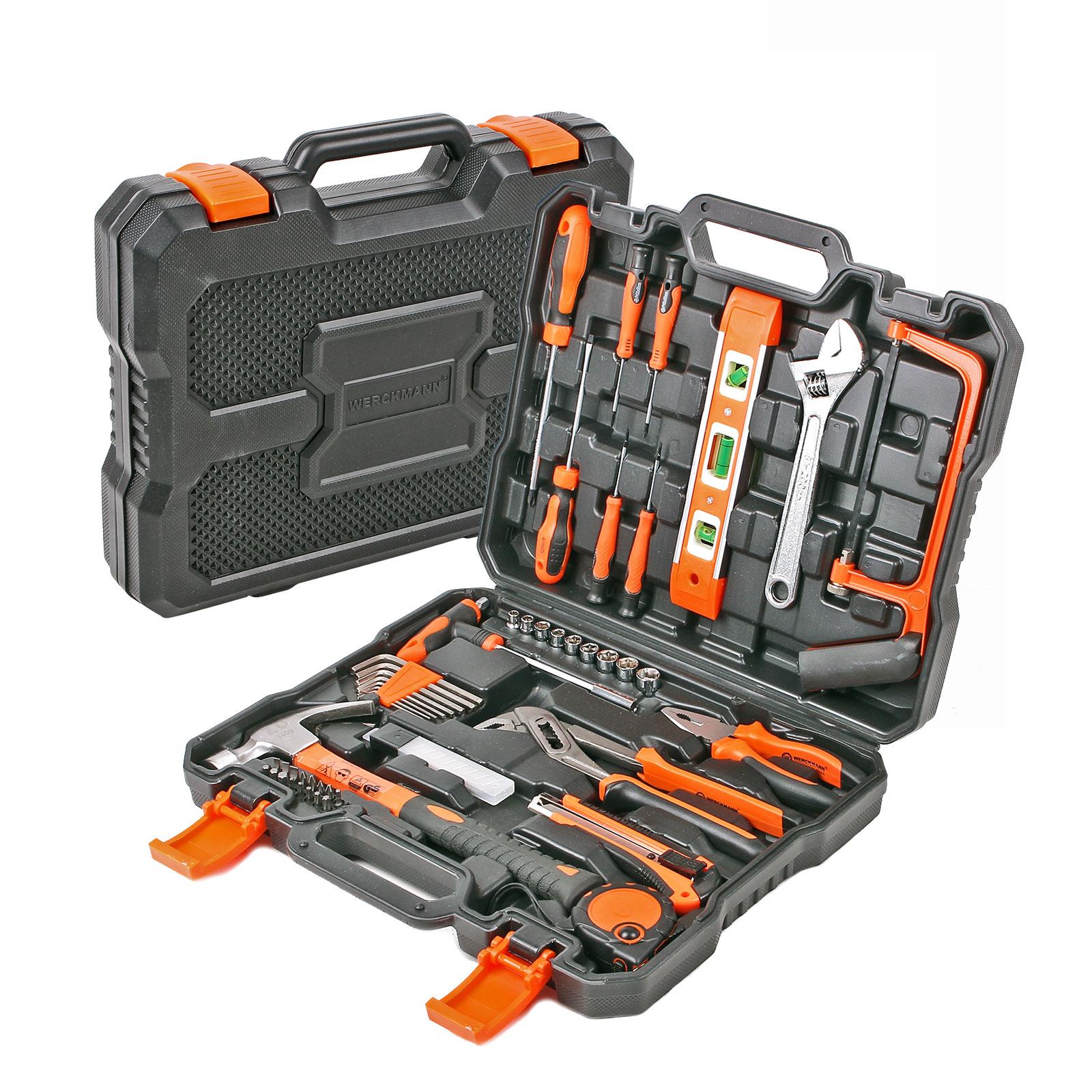 Werckmann® Werkzeugkasten 50 tlg mit Transportkoffer
