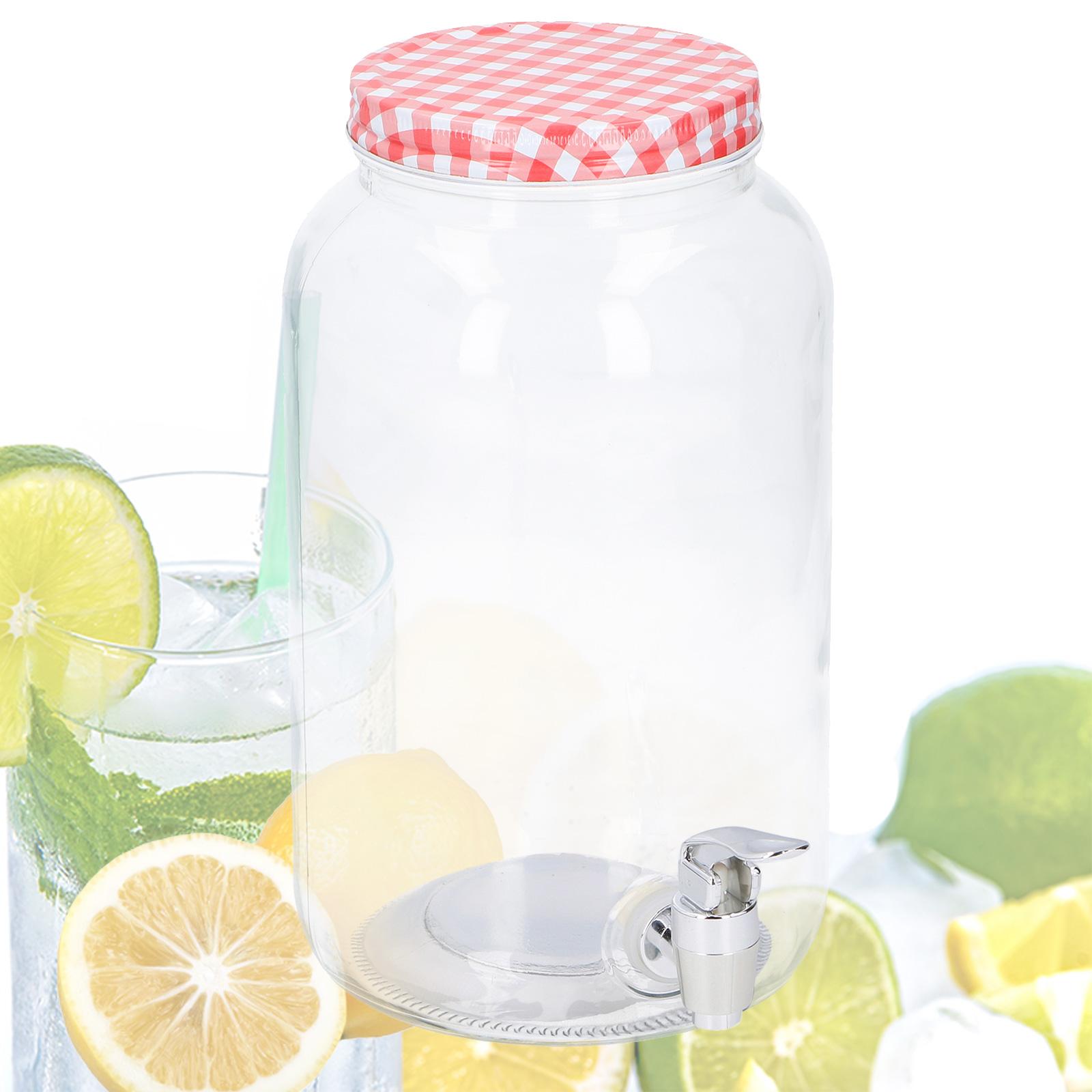 Saftspender 3 Liter Glas mit Zapfhahn Wasserspender Getränkespender
