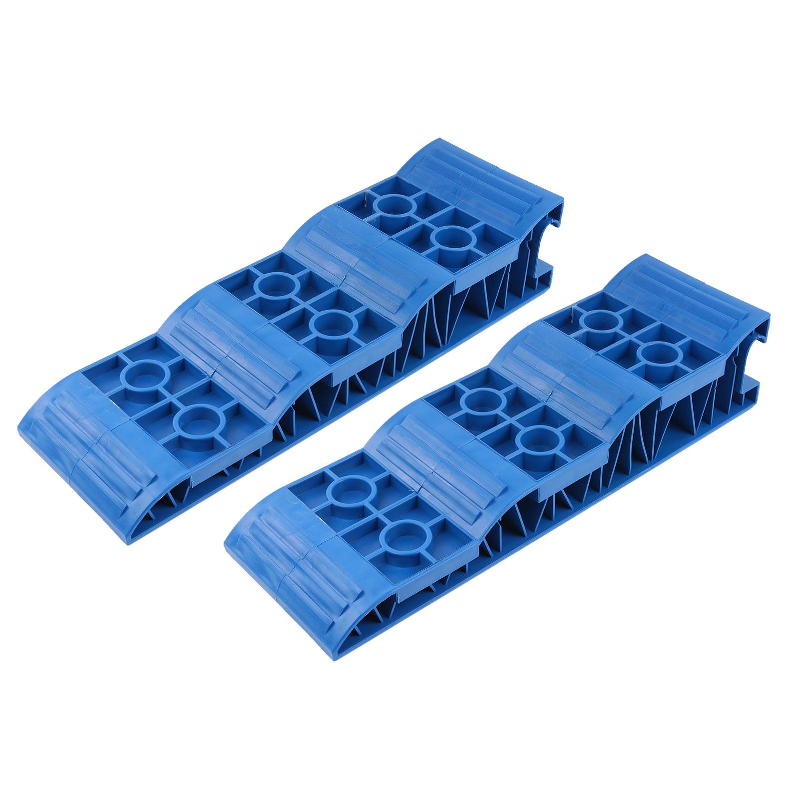 Jumbo Auffahrkeile Stufenkeile Blau für Wohnwagen & Wohnmobil