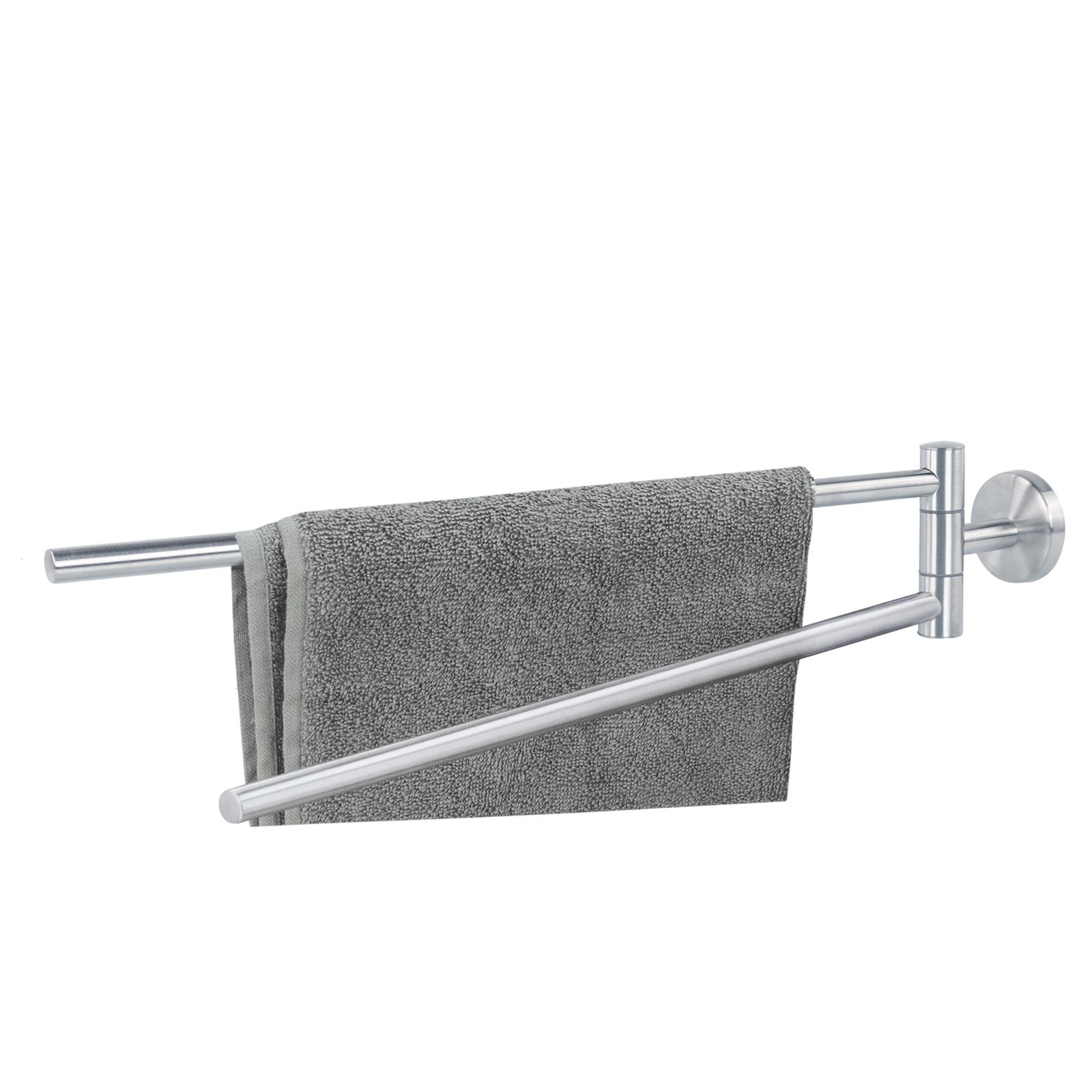 alpina® Handtuchstange 2 armig Edelstahl Inox 49cm 3Kg belastbar