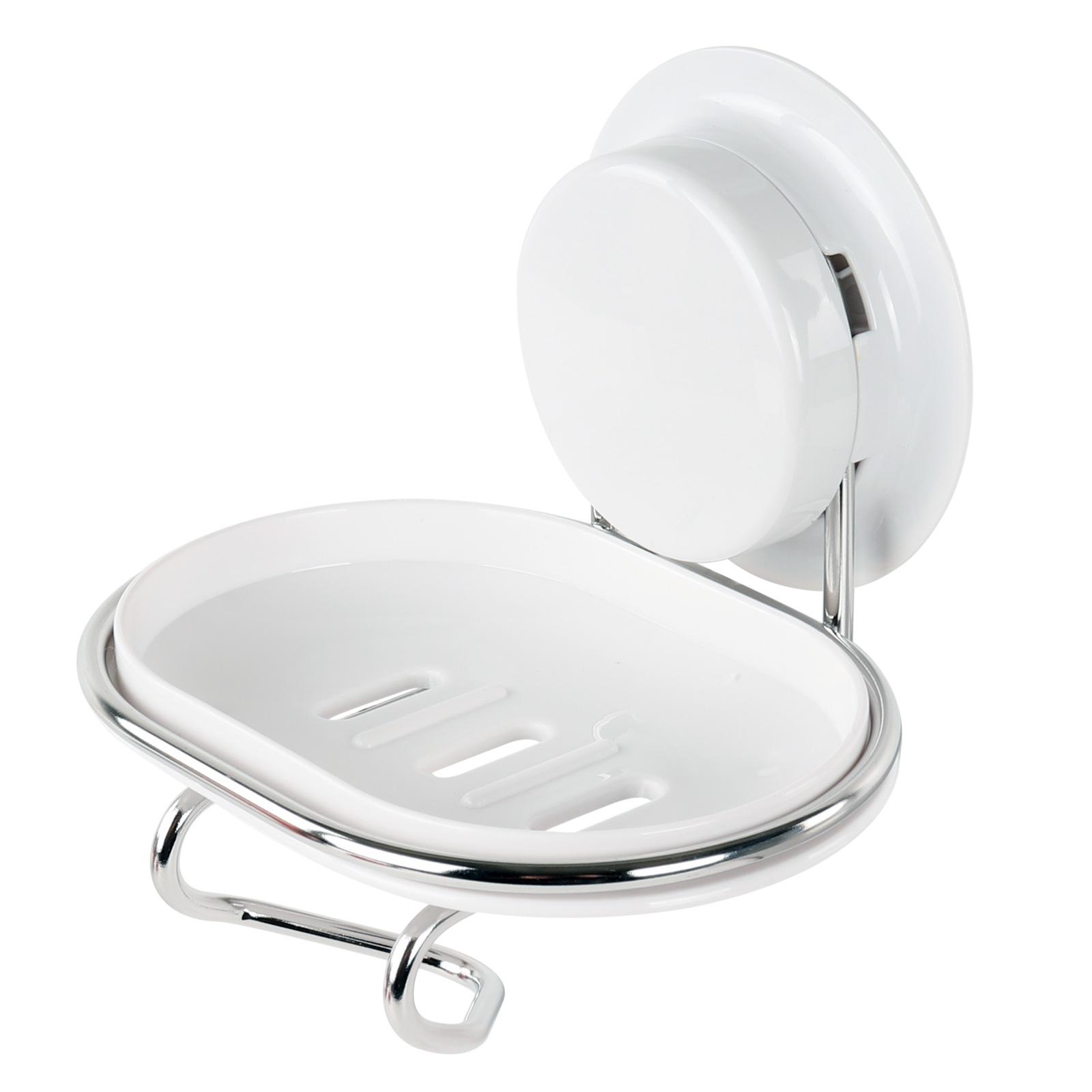 alpina® Seifenablage Wandhalter weiß ohne bohren Edelstahl Rasiererhalter