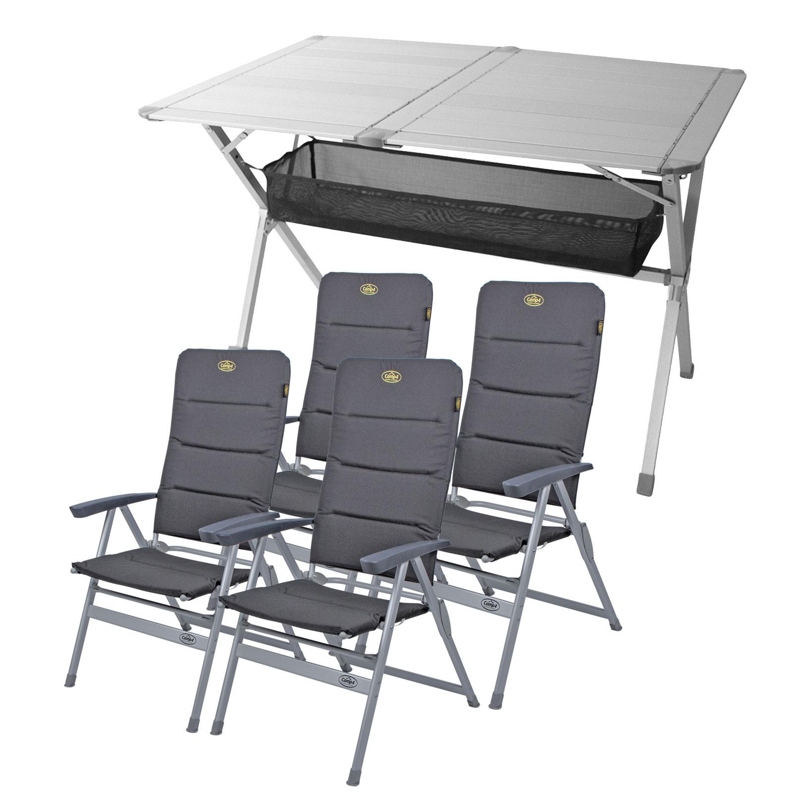 """Camping Möbel Set Tisch + 4 Stühle """"Grenoble"""" , 1x Tisch """"Titanspace"""""""