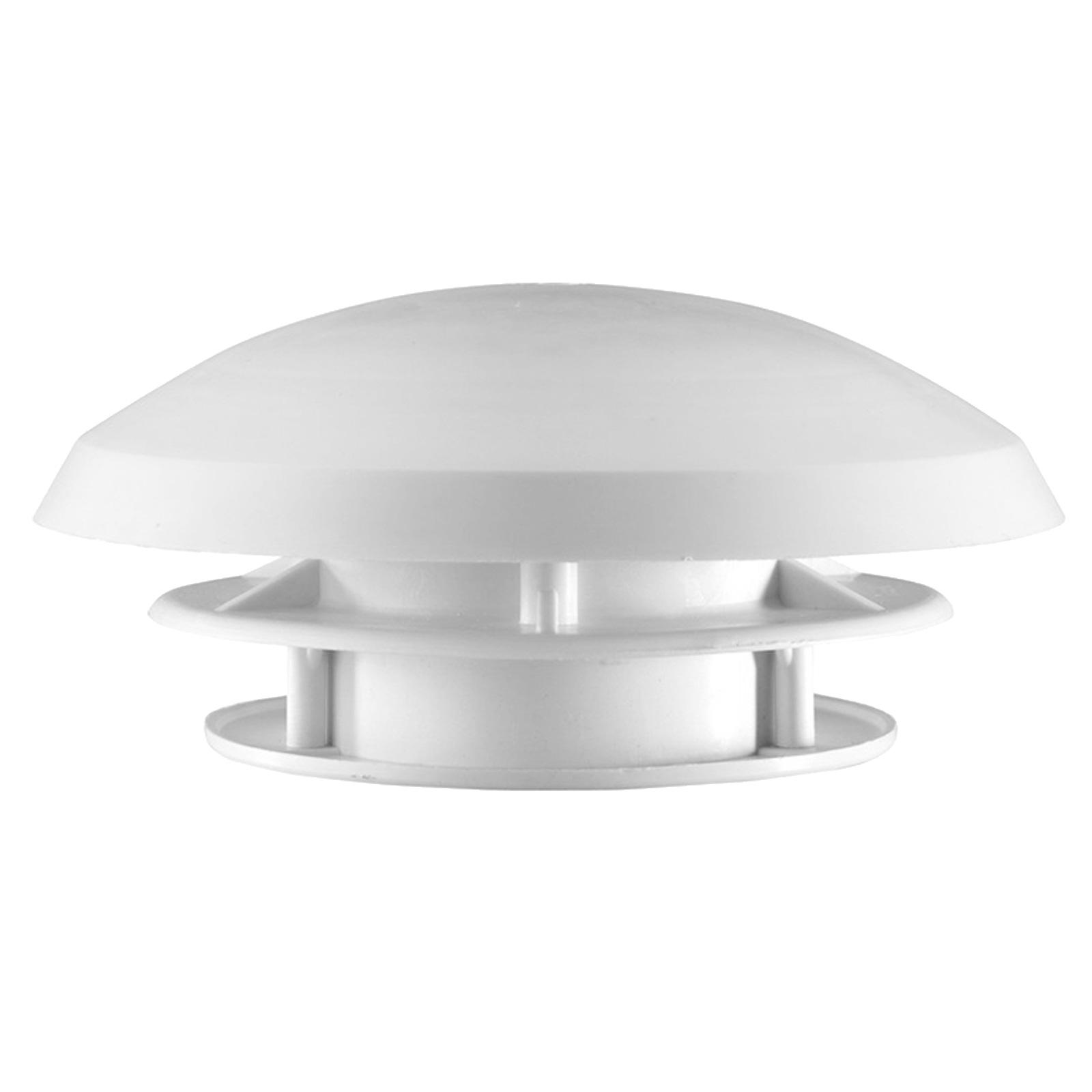 Dachlüfter Wohnmobil 20 cm weiß Dachstärke 20-45 mm Bohrung 90 mm Insektengitter