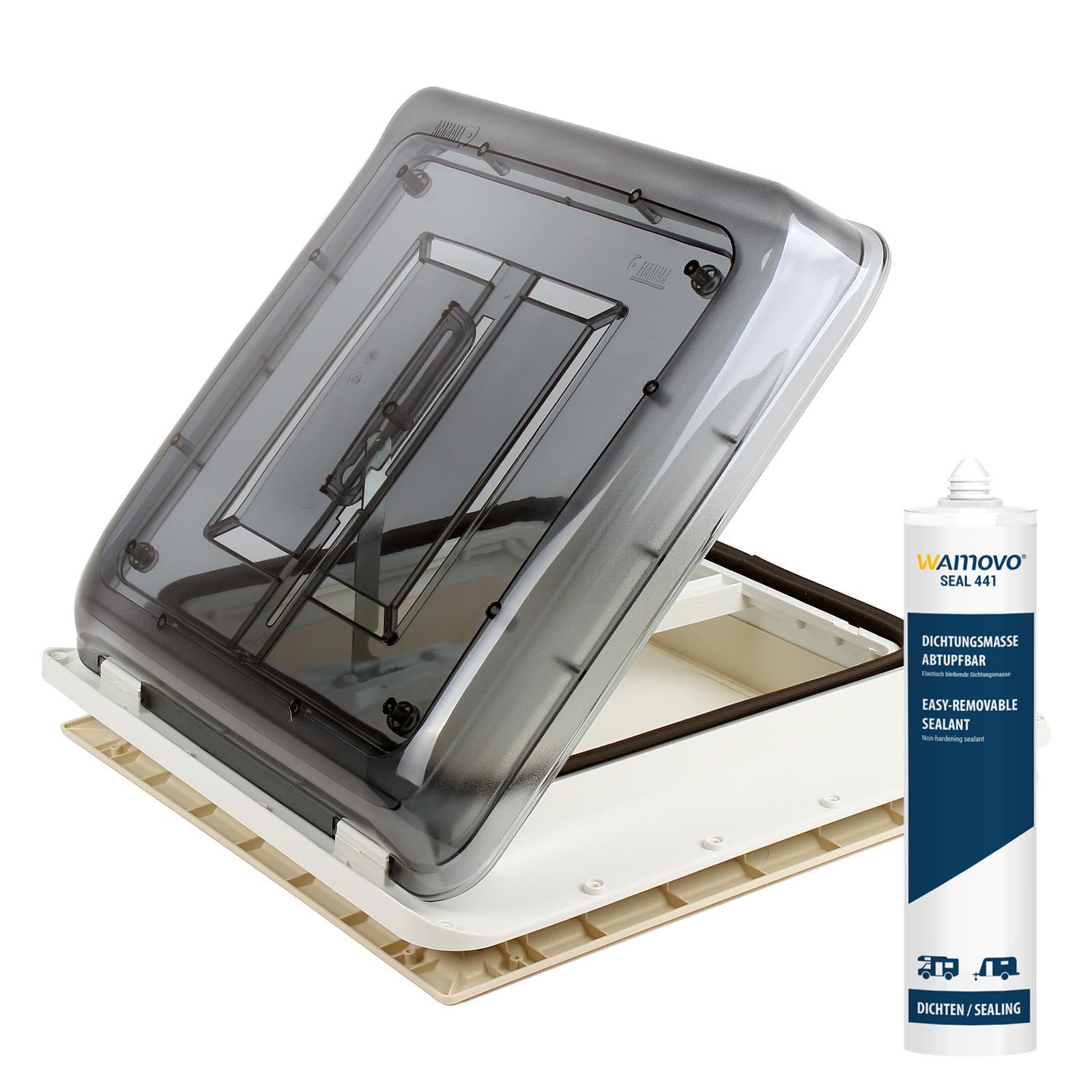 Dachfenster Fiamma Vent 40x40 cm Klar inkl Dekalin Dichmittel & Schrauben
