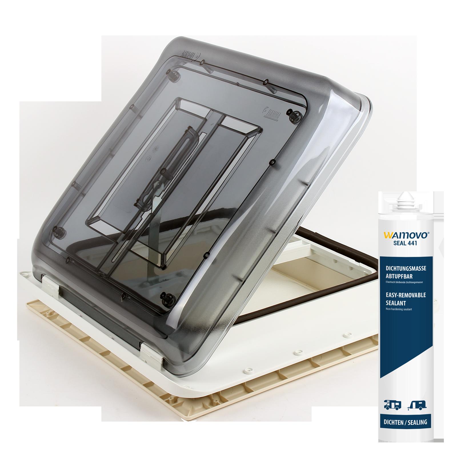 Dachfenster Fiamma Vent 40x40 cm Klar inkl. Dichmittel & Schrauben