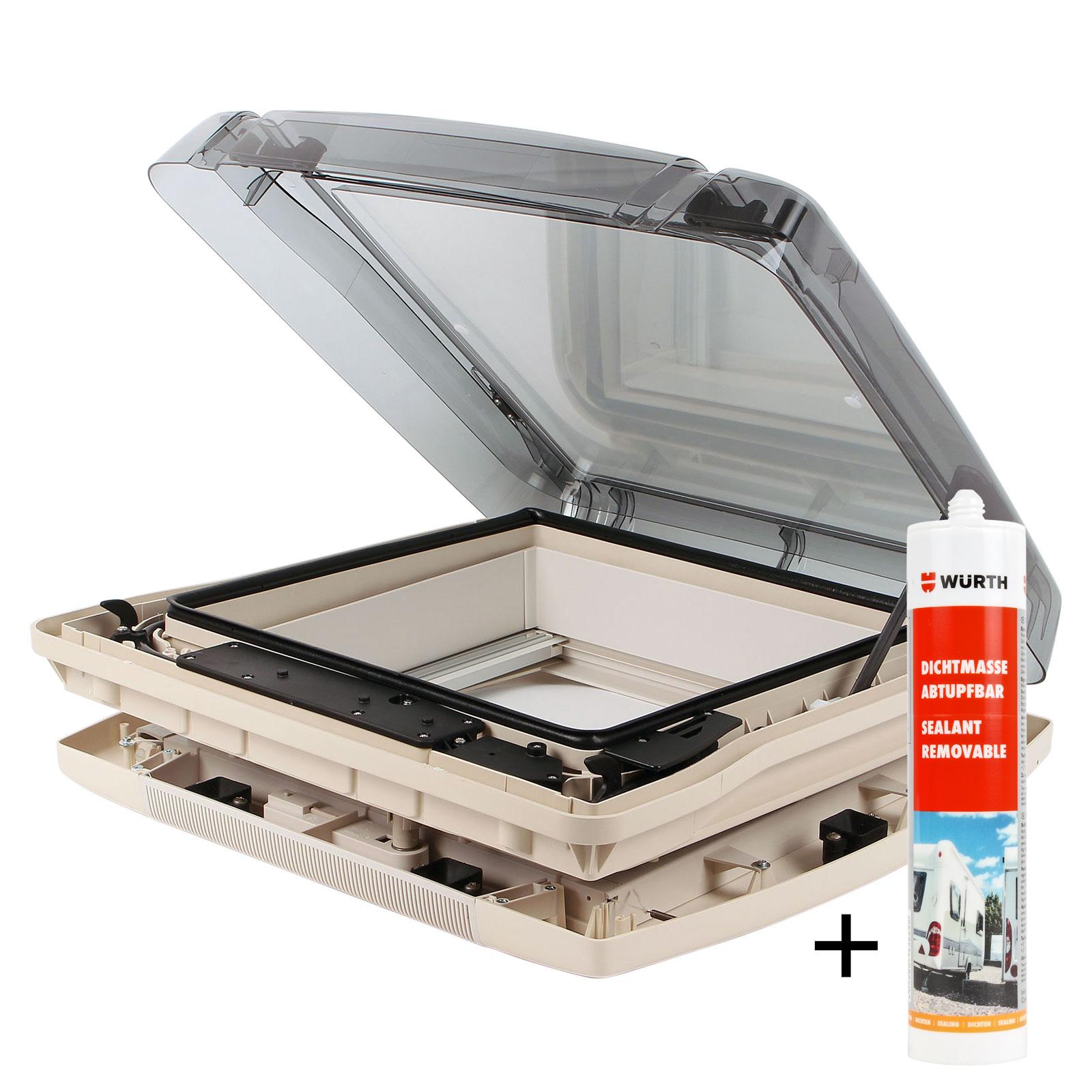 Dachfenster Remis Remitop Vario II Kurbelvariante 40 x 40 cm klar + Dichtmasse