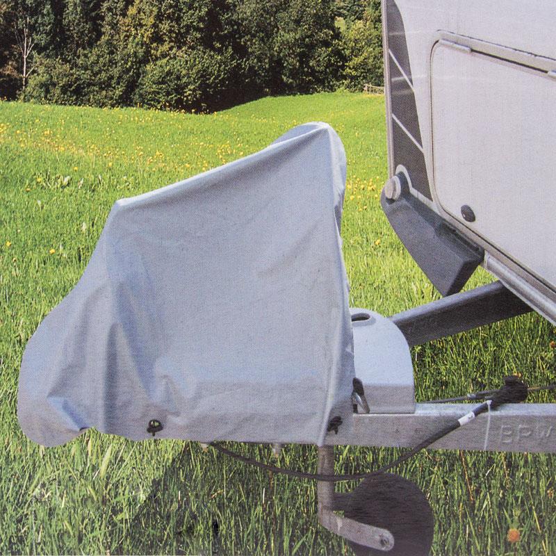Deichselhaube Grau PVC 87,5 x 61 cm inkl. Befestigungsbänder