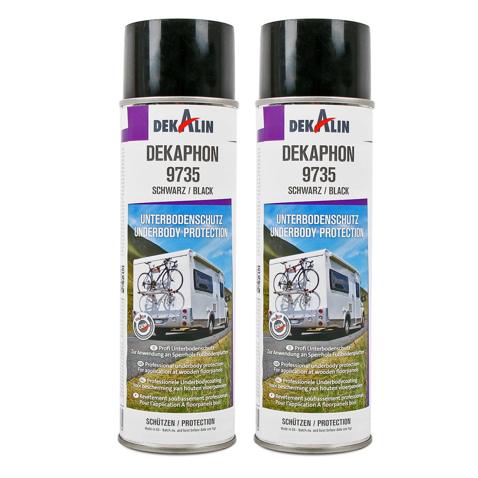 2x Dekaphon 9735 Unterbodenschutz für Sperrholz & Fußbodenplatten 500ml