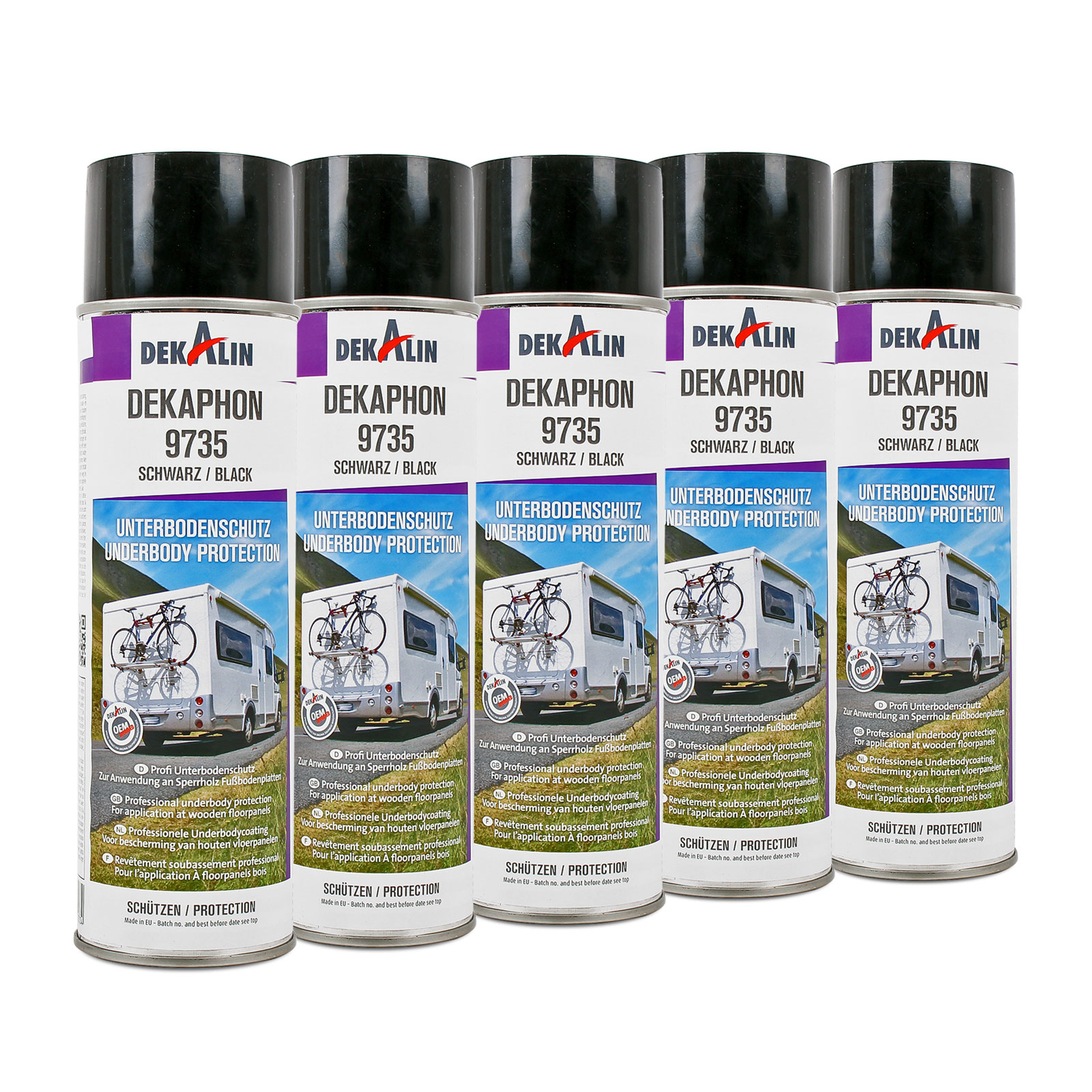 5x Dekaphon 9735 Unterbodenschutz für Sperrholz & Fußbodenplatten 500ml