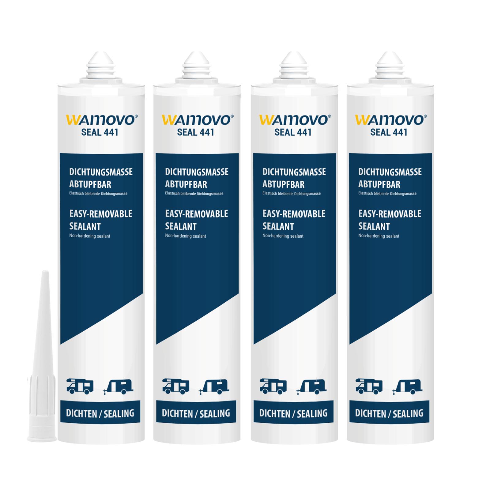 wamovo® Dichtstoff SEAL441 | 1240 ml | abtupfbar | Weiß | Dichtmasse