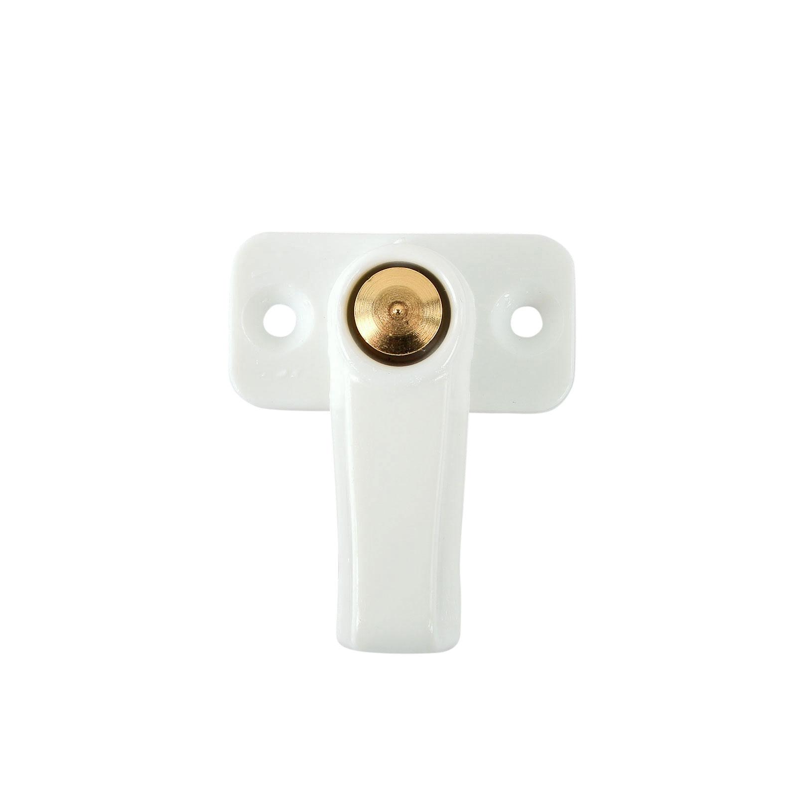 Stauklappen Dreh Riegel weiß Vorreiber 3,5 mm Grundplatte