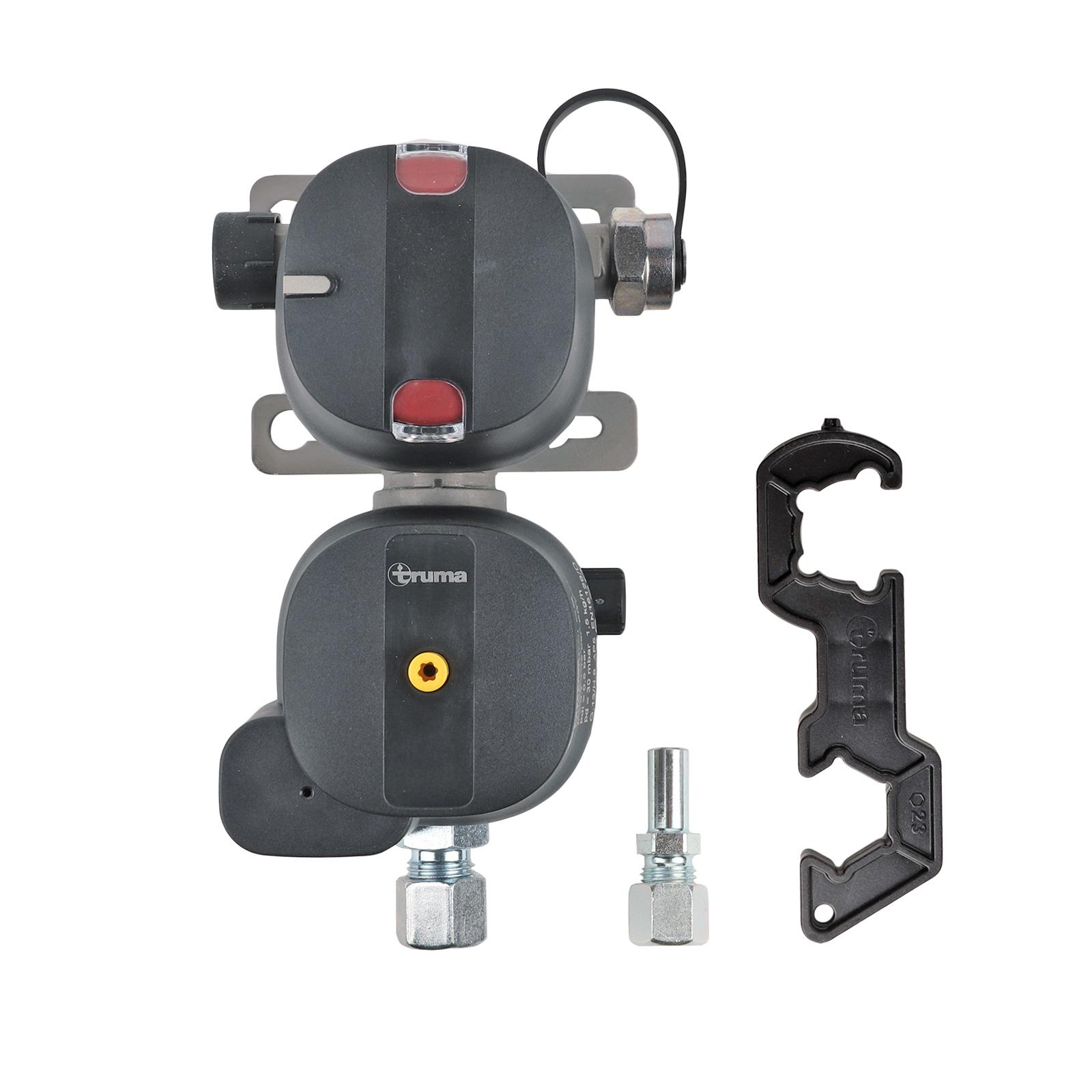 Truma DuoControl CS Gasdruckregler vertikal 30 mbar System Crashsensor