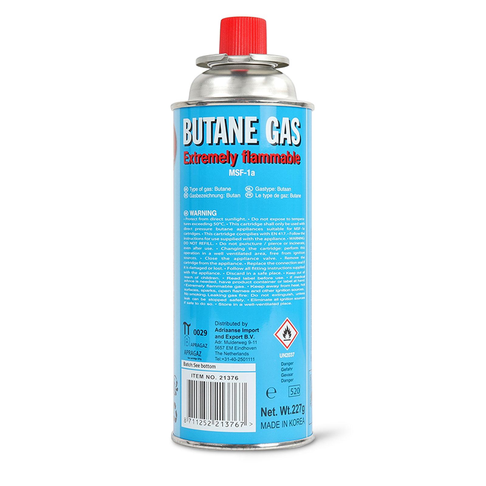 Butan Battery® Gaskartusche 220 Gramm für Camping Kartuschenkocher und Grills