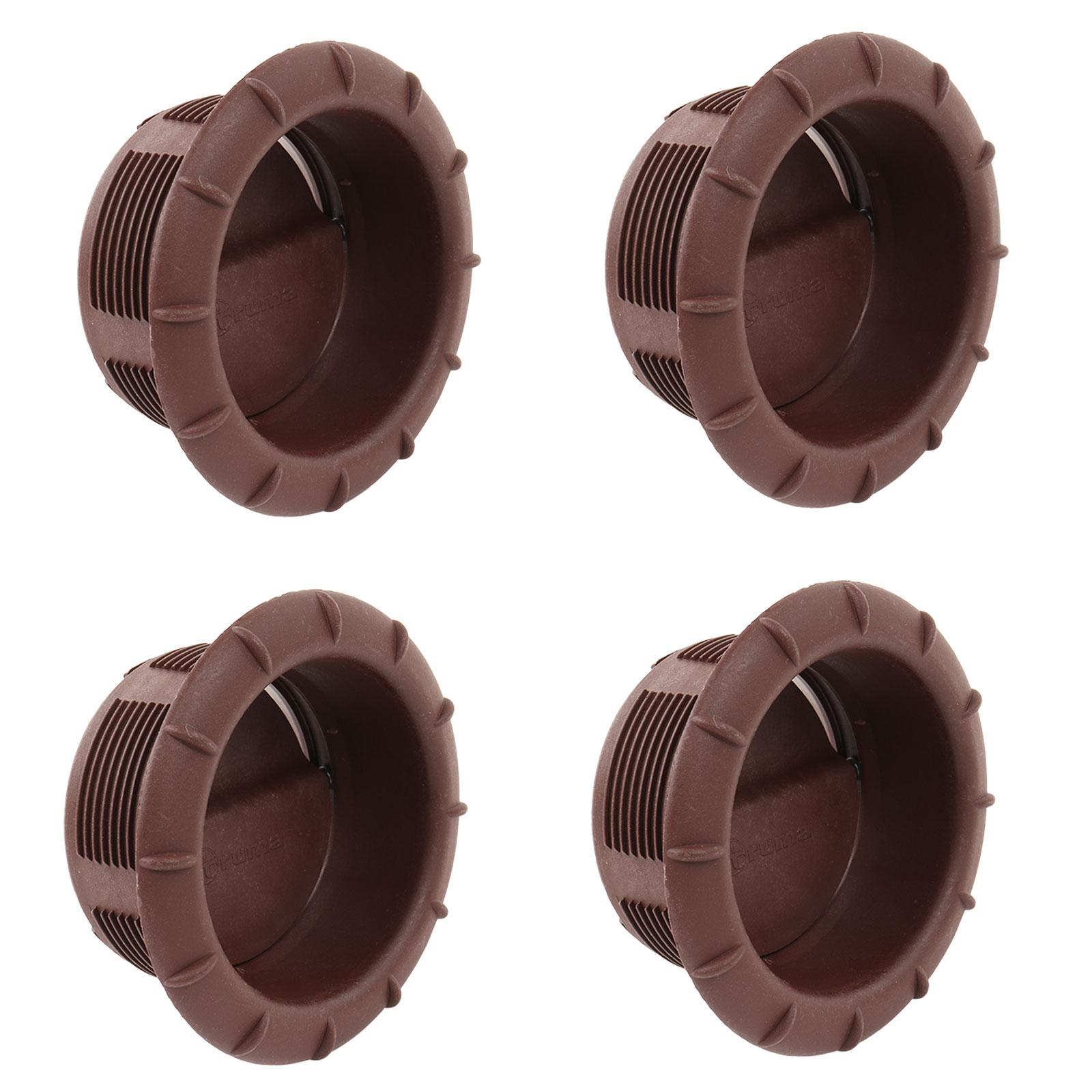 4x Endstück Warmluftaustritt Braun Truma für 65mm Warmluftrohre verschließbar