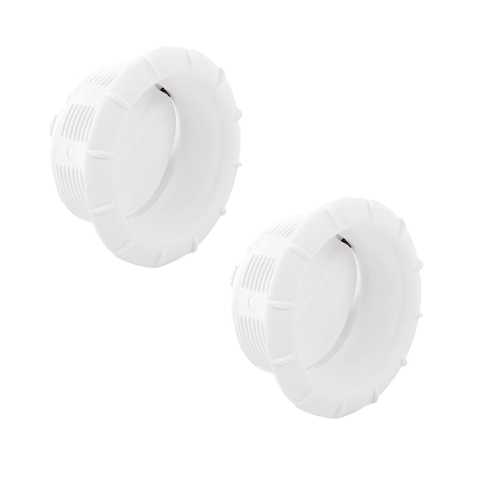 2x Endstück Warmluftaustritt Weiß Truma für 65mm Warmluftrohre verschließbar