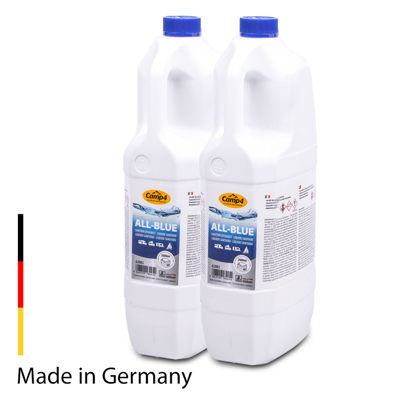 Camp 4 All-Blue Sanitärflüssigkeit, Chemietoiletten 4L, Abwassertank