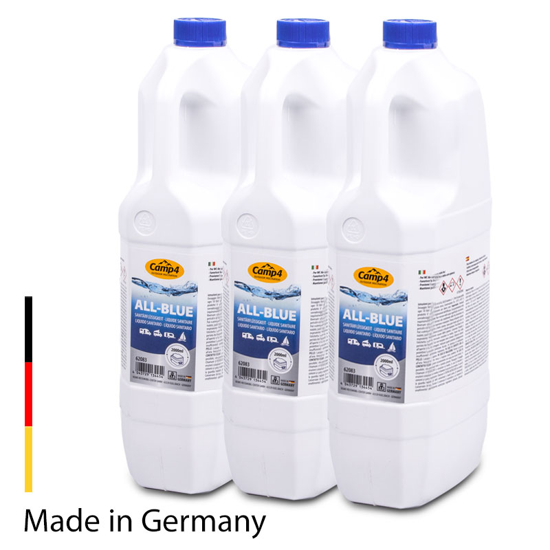 Camp4 All-Blue Sanitärflüssigkeit, Chemietoiletten, 6L, Abwassertank