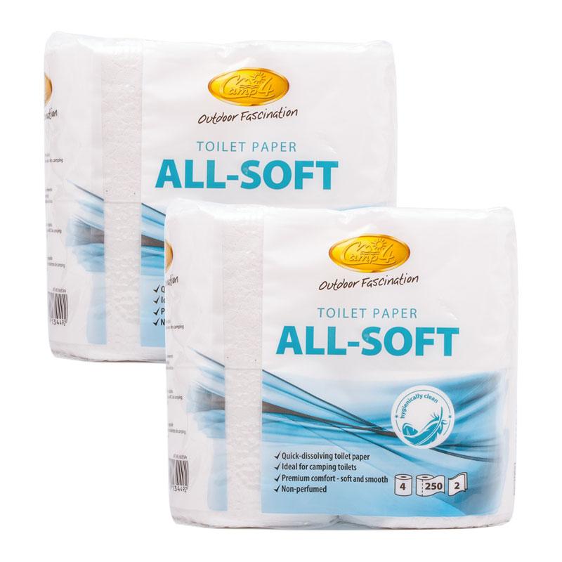 All Soft Toilettenpapier, 8 Rollen, speziell für Campingtoiletten