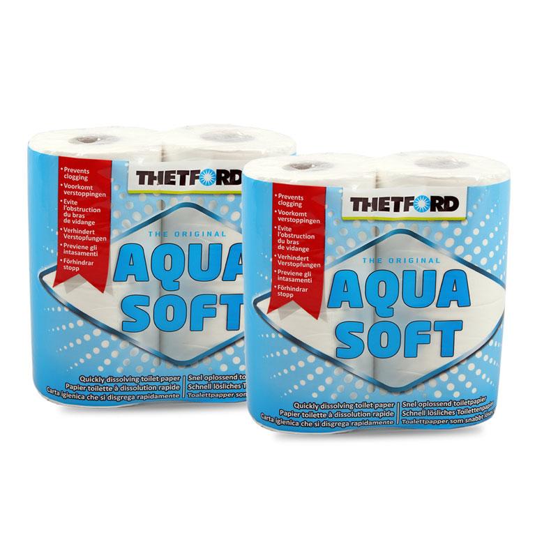 Thetford Aqua Soft Toilettenpapier für Campingtoiletten 2 x 4 Rollen