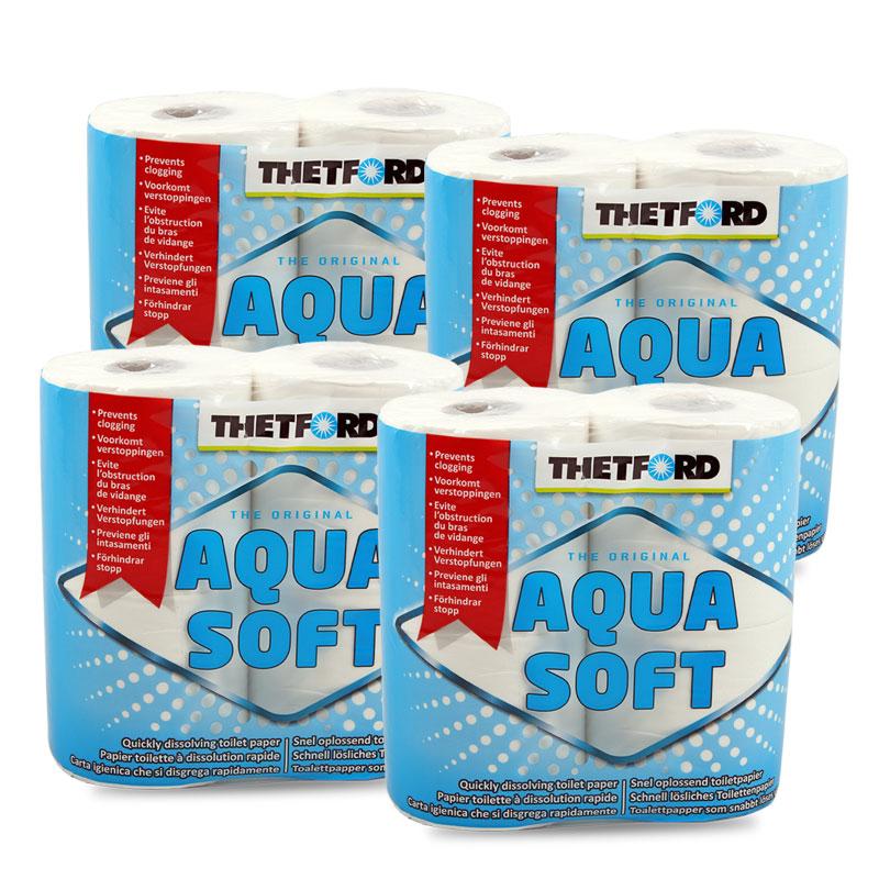 Thetford Aqua Soft Toilettenpapier für Campingtoiletten 4 x 4 Rollen