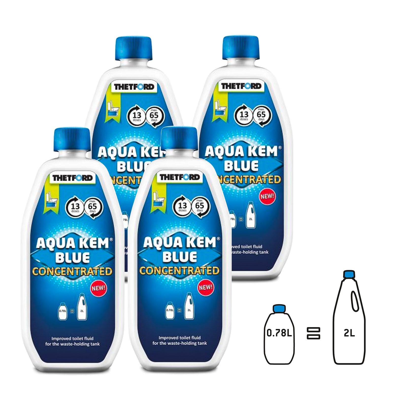 4x Thetford Aqua Kem Blue Toiletten Zusatz für Abwasserbehälter 0,78l Konzentrat