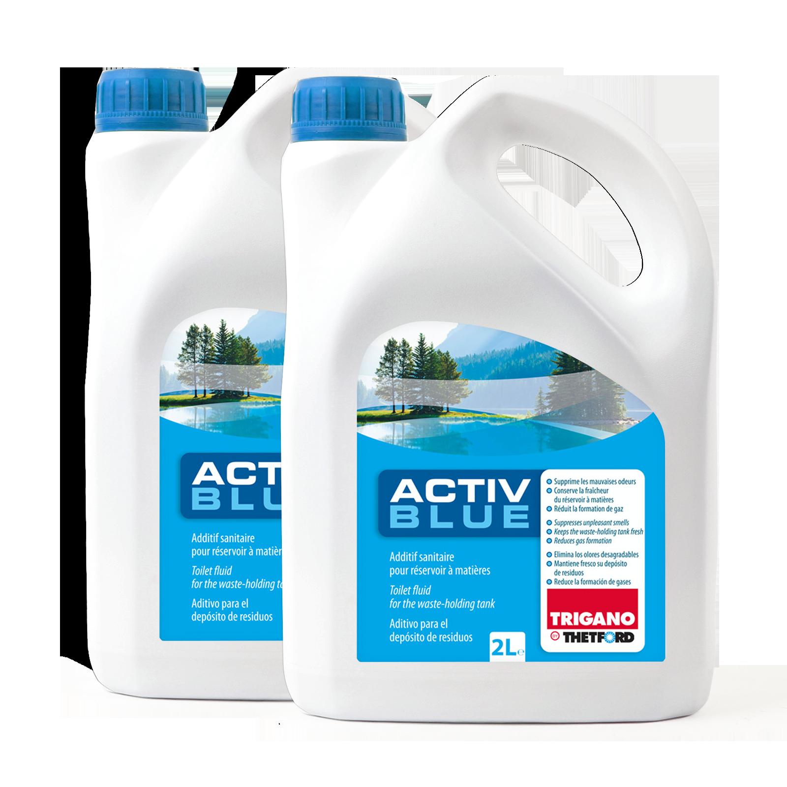 2x Thetford Activ Blue Toiletten Zusatz für den Abwasserbehälter 2 Ltr