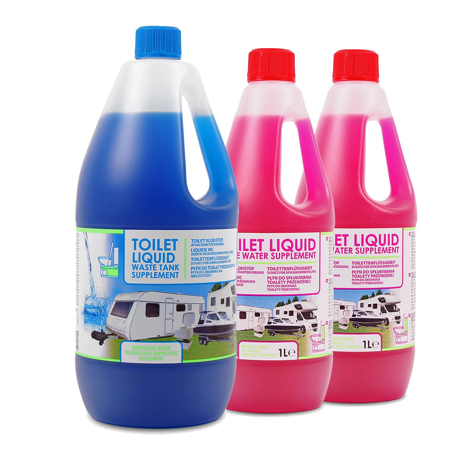 Set Toilettenzusatz für Chemietoiletten, Abwasserbehälter und Spülkasten