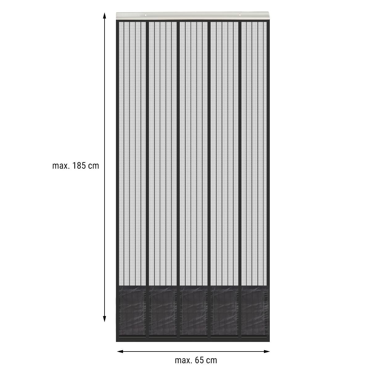 Sehr Insektenschutz Tür mit Kederleiste 185x65cm Breite und Länge SM62