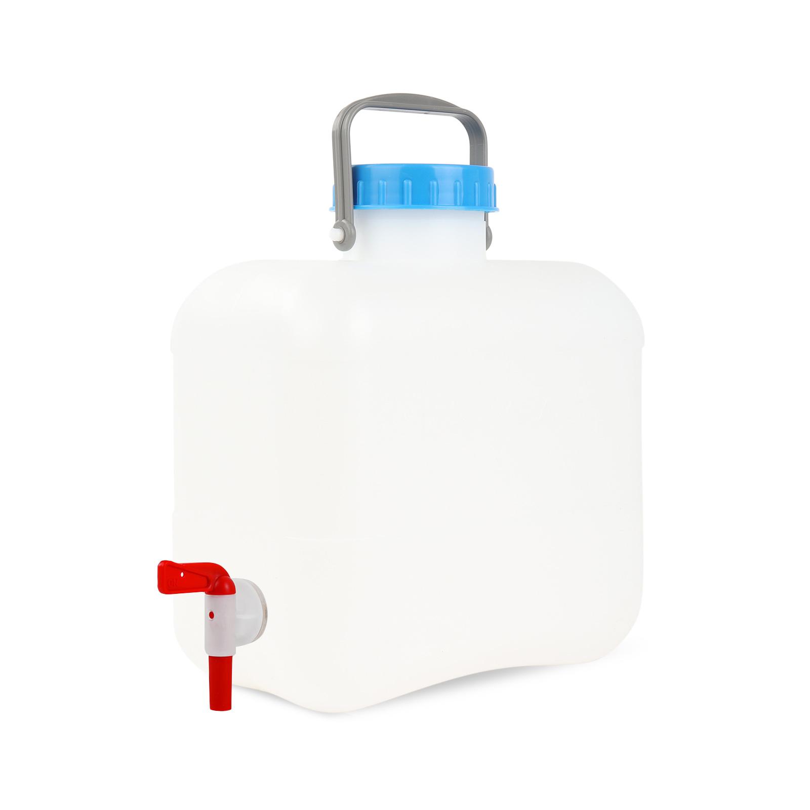 Weithalskanister mit Abfüllhahn 10 Liter Bügelgriff Stopfen DIN 96