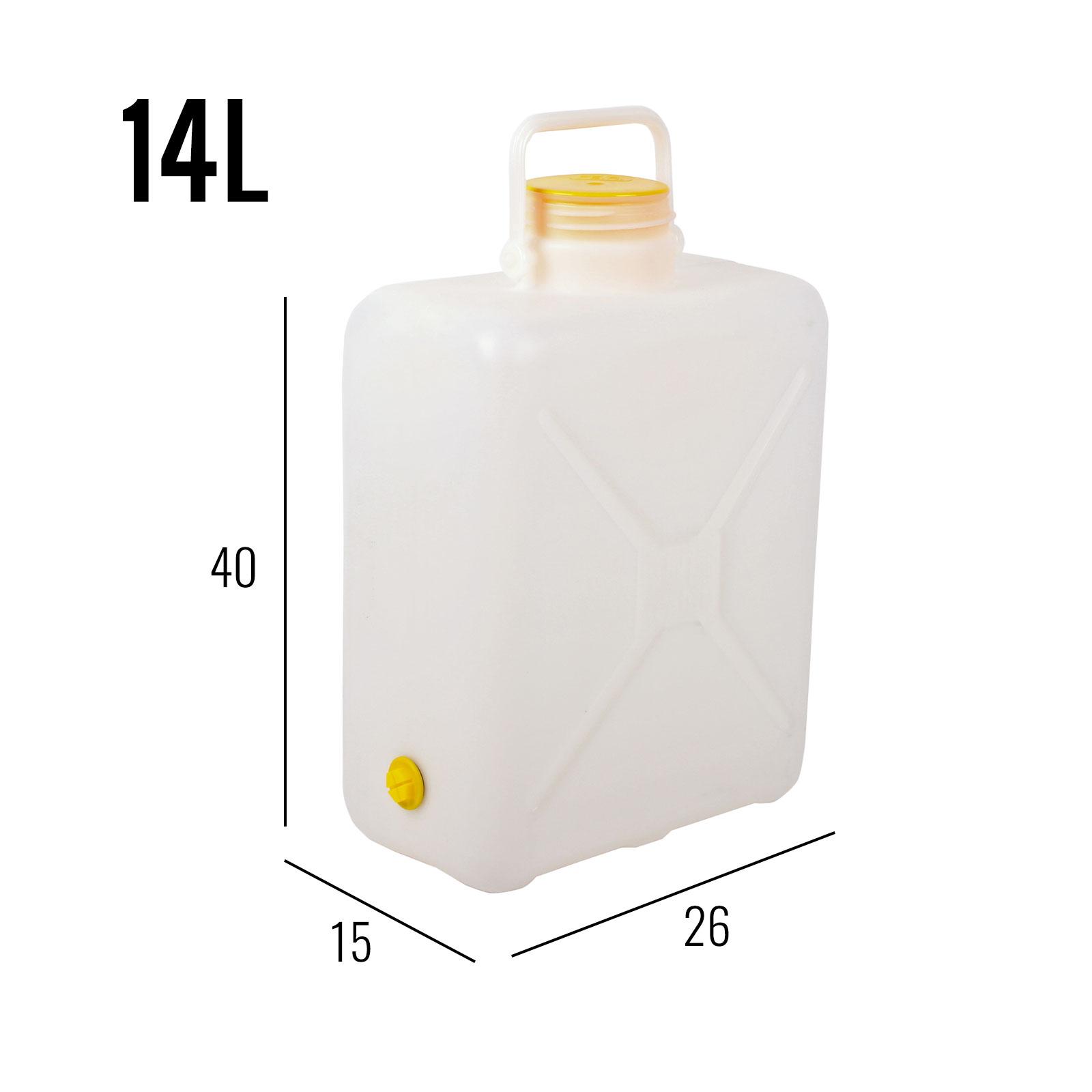 Weithalskanister Comet 14 Liter weiß Bügelgriff Stopfen DIN 96