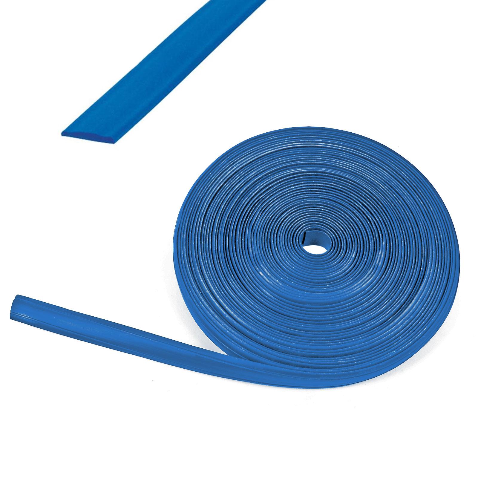 60 Meter Kederband 12 mm blau Kunststoff Leistenfüller