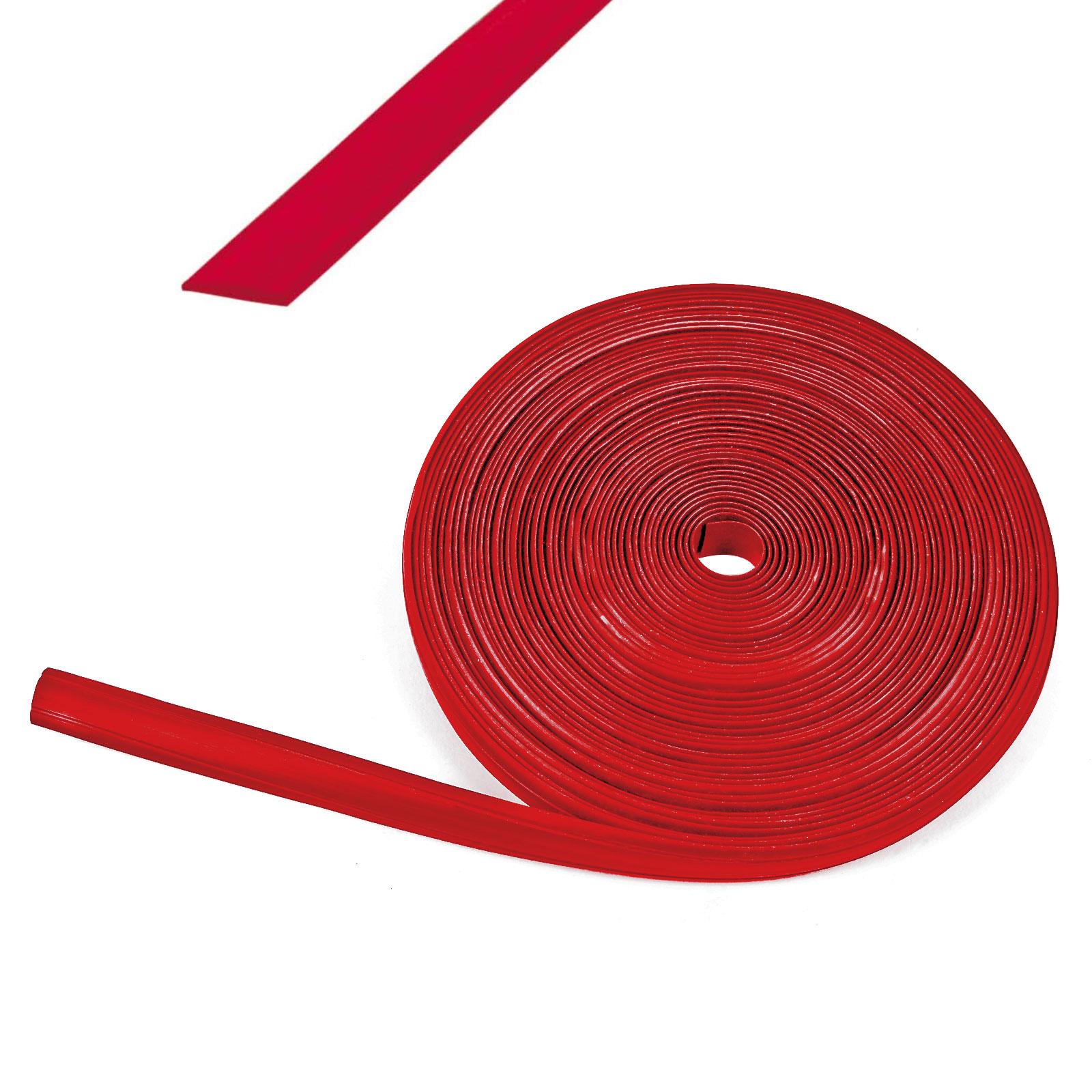 60 Meter (6x10 m) Kederband 12 mm rot Kunststoff Leistenfüller RAL 3003