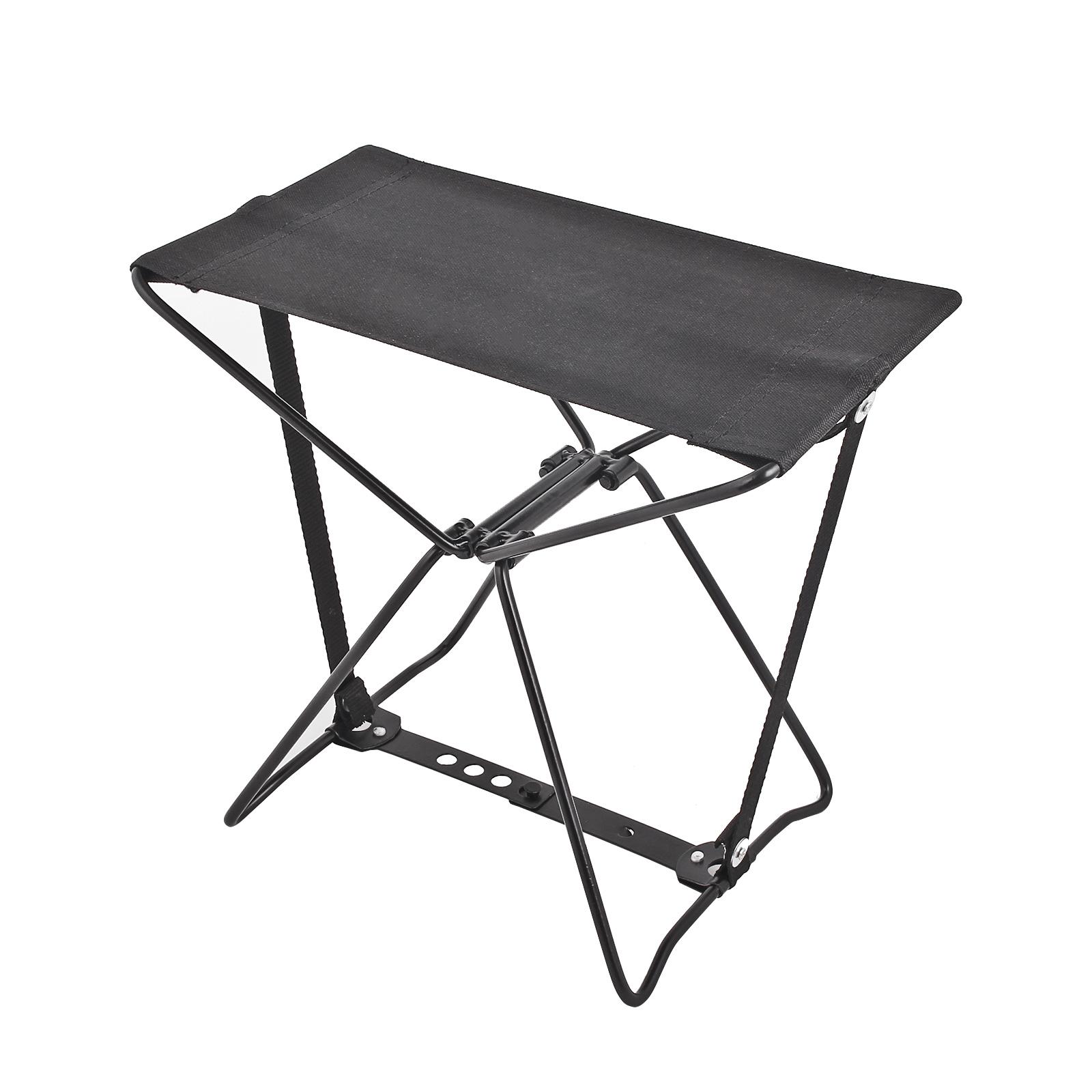 Klapphocker Bo-Camp® schwarz 29x25x15 cm 80 Kg belastbar mini Falthocker Camping
