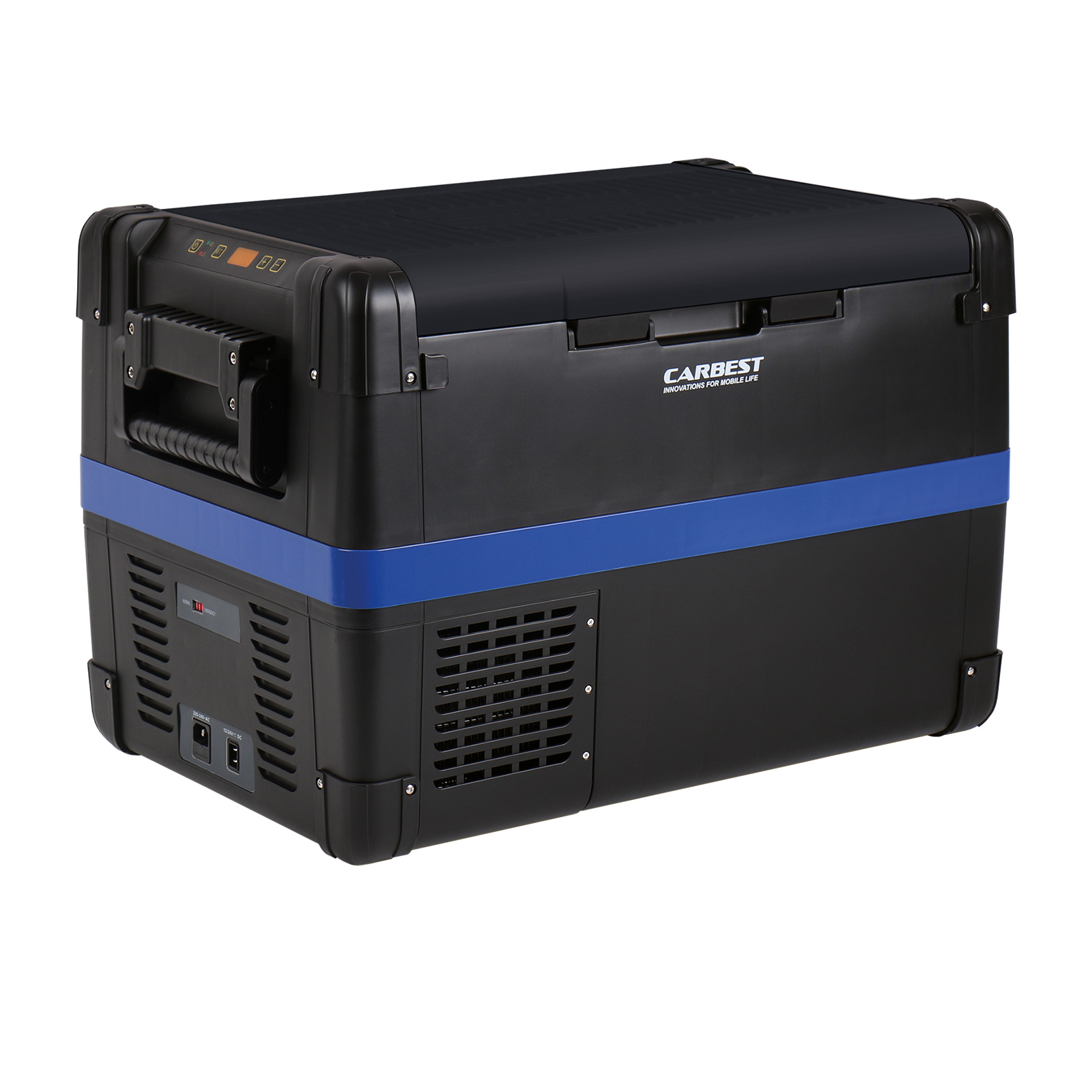 Carbest Kompressor-Kühlbox 50 Liter 12V/24V/230V, Kühlbox Carbest MaxiFreezer 50