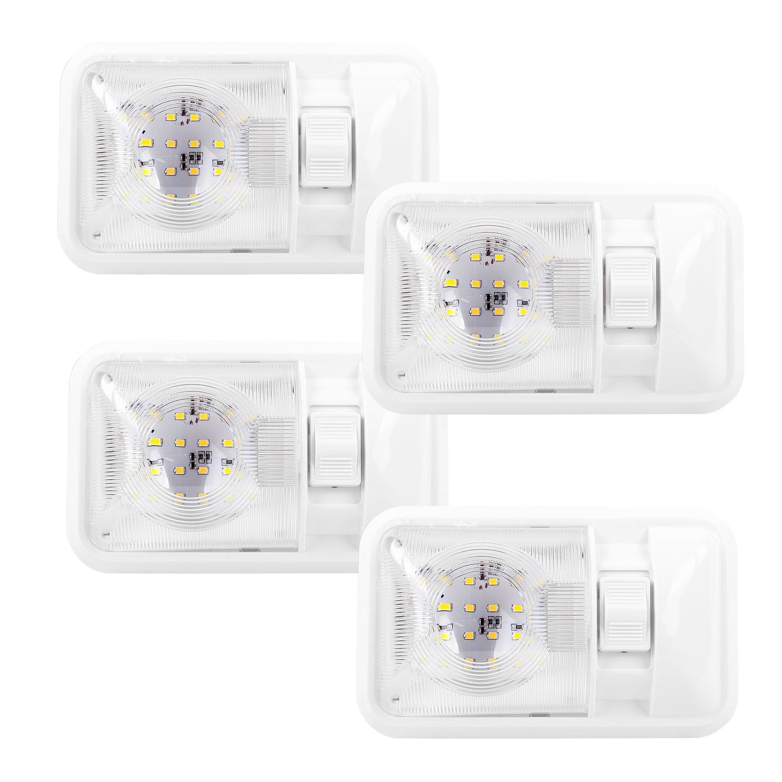 Aufbauleuchte 4er Set 24-Leds, 12V, 320lm, 38x208x127mm, Kunststoff