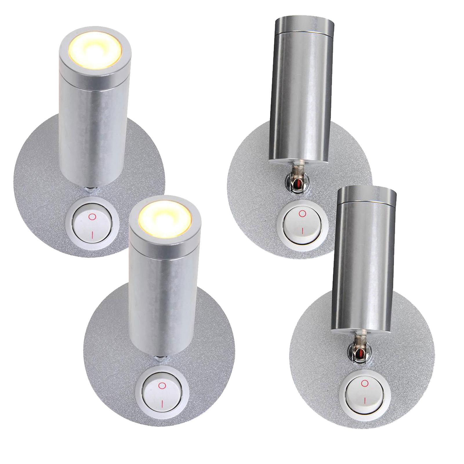 4er Set Aufbauspot 1 LED schwenkbar 12v, 120lm, Ø65x65-130mm