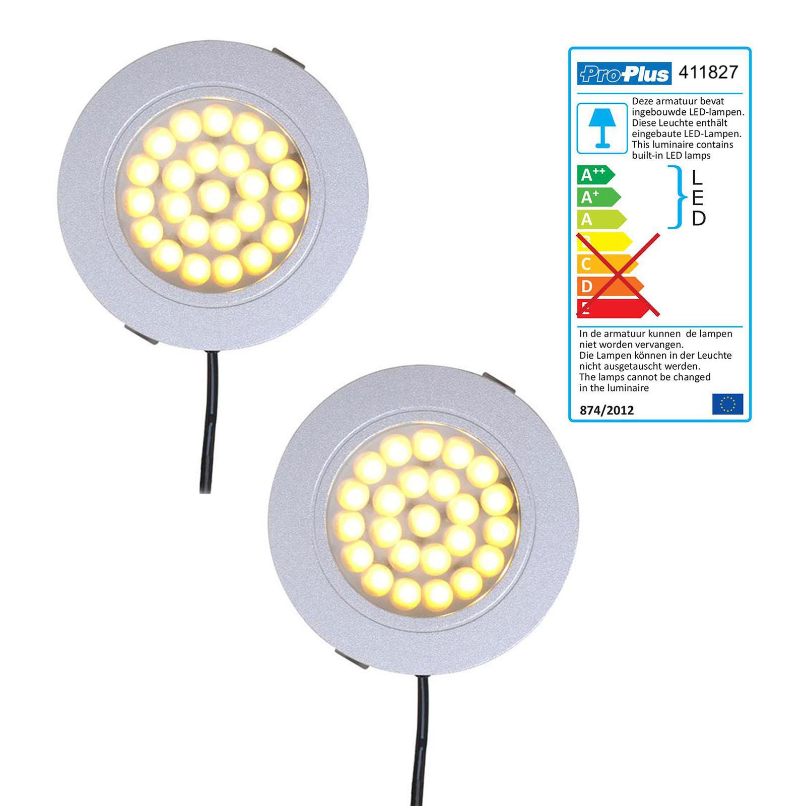 2er Set Einbauspot 24 LED-Deckenleuchte 12v, 220lm, Ø65x11mm