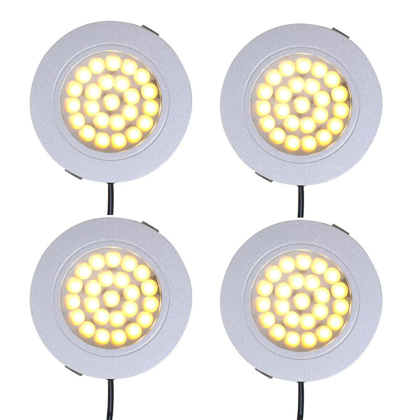 4er Set Einbauspot 24 LED-Deckenleuchte 12v, 220lm, Ø65x11mm