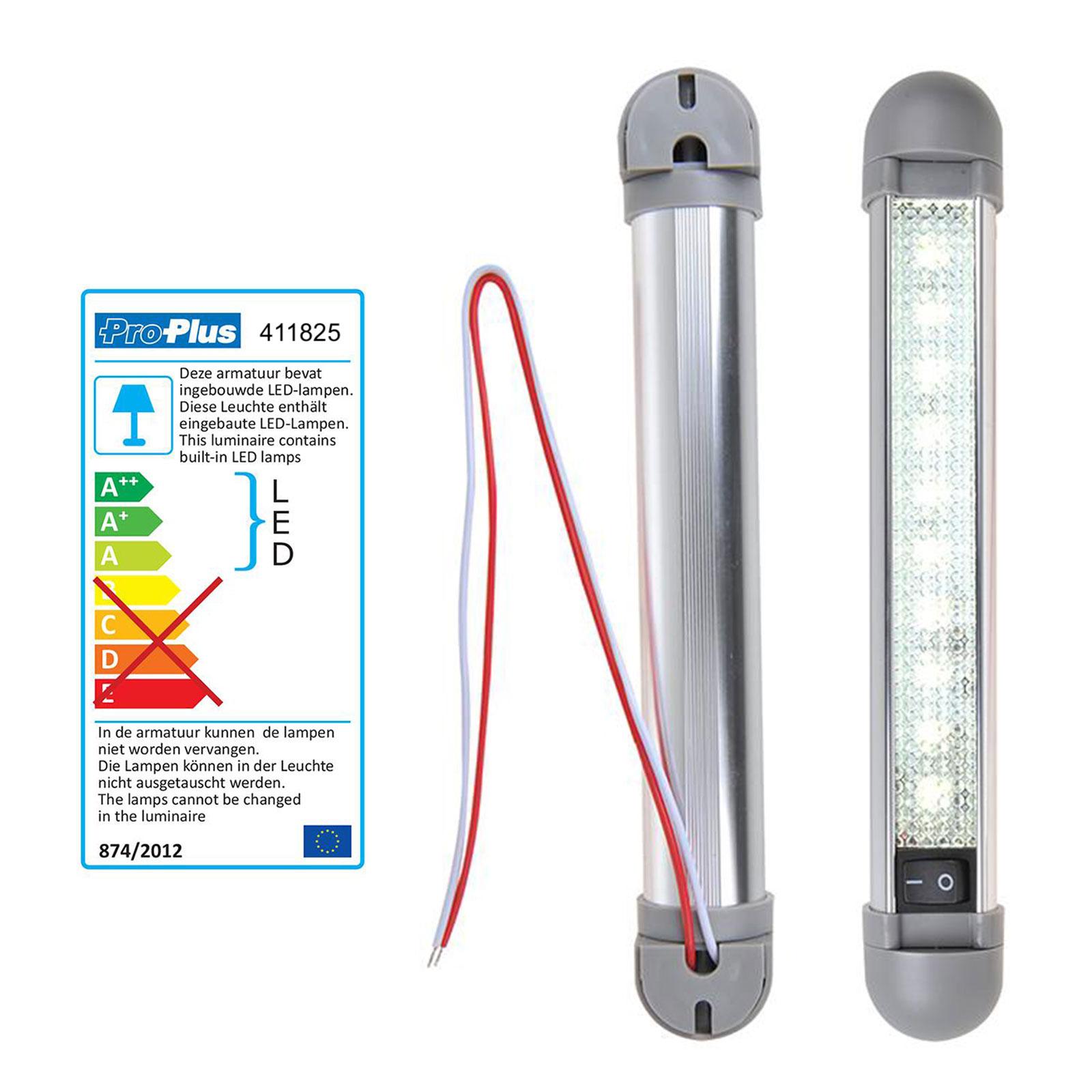 Linienleuchte 10 LED 12v, 150lm, 225x35x33mm