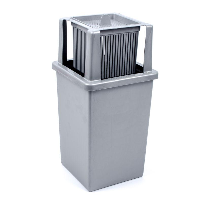 Luftentfeuchter, (B/L/H) 14x14x35cm grau ideal für Wohnwagen und Wohnmobil